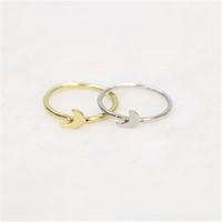 Moda bonito little moon rings, lua do dedo médio anéis para as mulheres por atacado frete grátis