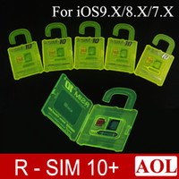 R- SIM 10+ Unlock Card for iphone 6s 6 plus 5s CDMA SRPINT AU...