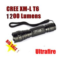 UltraFire 크리 어 XM-L T6 WF-501B 1200 루멘 손전등 플래시 라이트 방수 LED 토치 야외 모험 캠핑에 대 한 5- 모드