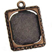 antique copper photo frame charms metal vintage new diy fash...