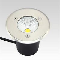 공장 직접 판매 무료 배송 10W COB LED 지 하 빛 IP68 매장 된 recessed 바닥 실외 램프 AC85-265V, 따뜻한 화이트 / 차가운 흰색
