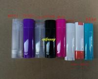 200 teile / los 4,5g Kunststoff Leere DIY Oval Lippenbalsam Rohre Tragbare Deodorant Container Lippenstift Mode Lip Tube 8 farben