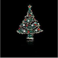 크리스마스 선물 브로치 핀 여성을위한 쥬얼리 드레스 선물 크리스탈 크리스마스 트리 파인 Jewlery 고품질 숄 버클 브로치