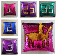 Mermaid Sequins Pillow Case Xmas Gifts Cushion Cover Bright ...