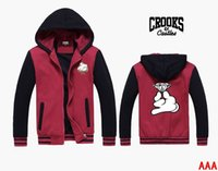 s- 5xl Cotton Blend New fashion hip hop hoodie Crooks and Cas...