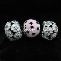 100% 925 Charms in argento sterling e perle di vetro di Murano si adattano ai braccialetti europei Charm Charm-DS001