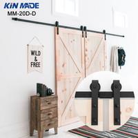 Kin сделал двойную панель античный стиль стальной скользящий сарай дверной шкаф для шкафа оборудования комплект для шкафа скольжения оборудование завод оптом