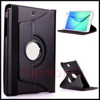 Custodia Smart Cover in pelle PU rotante per Samsung Galaxy Tab 3 4 S S2 A E 8.4 T330 T230 T380 T380