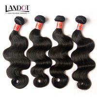 """Brasilianska Virgin Hair Weave Body Wave 8 """"-36"""" 9a högsta kvalitet brasilianska mänskliga hårväv 4 buntar obearbetade brazillian vågiga hårförlängningar"""