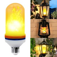 Led Flame Lamps E27 E26 LED Flame Effect Light Bulb 110V 220...