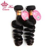 """Extensions de cheveux vierges indiennes lâche vague 8 """"-28"""" en stock, 100% longueur de cheveux humains mélangés 2 pcs. Lot DHL Livraison gratuite"""