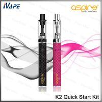 100% Original Aspire K2 Kit de Inicialização Rápida 1.8 ml K2 Tanque 1.6ohm Aspire BVC Bobina Com 800 mah K2 Bateria