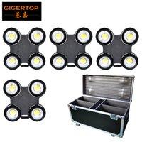 4in1 Yol Kılıfı Tekerlekler Ile Paketi Izle Blinder 4x100 W LED COB 3200K / 6500 K / CW + WW İsteğe Bağlı Su Geçirmez Güç / DMX Kablo CE ROHS GIGERTOP