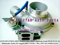 GT3576D GT3576 479016 750849 479016-0001 750849-0001 24100-3521C Turbo Turbocompressore per camion HINO Highway 1997-04 J08C-Ti J08CTi 8.0L 7.96L