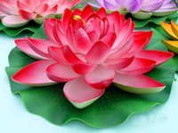 28cm Artificial Lotus Flowers Water Lily Wedding Decoration ...