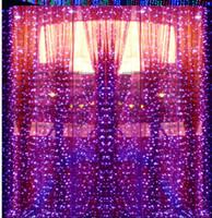 10 متر × 5 متر 1600 المصابيح الصمام الستائر جارلاند سلسلة ضوء عيد الميلاد عطلة رأس السنة الجديدة حفل زفاف luminaria الديكور مصباح الإضاءة