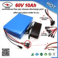 클래식 PVC 케이스 900w 60V 10Ah 전기 자전거 배터리 18650 리튬 배터리 15A BMS PVC 케이스 + 67.2V 2A 충전기
