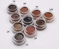 무료 배송 30 개 새로운 메이크업 눈썹 포마이드 눈썹 증강 인자 화장 눈썹 10colors