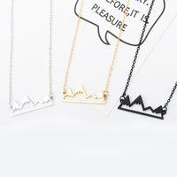 Moda Gümüş dağ Kristal KolyePendants Kadınlar için Erkek Kolye Kolye için Lüks Takı Hediye Arkadaş / yüksek Kalite