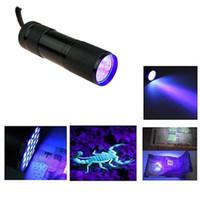 Wholesale-SUPERIA 9LED 365nm UV Light 9 LED  Ultraviolet Light for UV Leak Detector