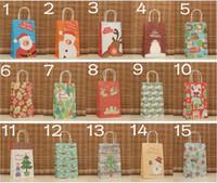 14 Designpapier Geschenk Tasche für Weihnachtsgeschenk Recycelbare Krafttasche Partybedarf 30 teile / los WS002