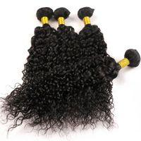 ヴァージンモンゴルの髪の束の人間の髪の毛織りジェリーカーリーwefts 8-34inch未処理ブラジルのインドペルー織りハル拡張ミンク