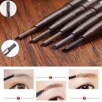 Promoción impermeable doble cabeza maquillaje automático ceja lápiz con cejas cepillo de maquillaje herramientas de belleza cosmética 5 colores