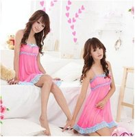 Mulheres Nice Lace lingerie sexy Sleepwear Robes Nightwear Nightdress + G-String o78 Frete Grátis