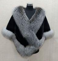Winter bridal Faux Piel Wraps Warm Shawws Outerwear Shrug Gary Gary Burgoundy Blue Silver para la novia Chaqueta de dama de honor Cóctel de promoción