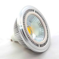 2 pz / lotto 15 W AR111 QR111 Faretto LED COB Warm Natural Cool White G53 GU10 Lampade da soffitto LED Dimmerabile DC12V AC110V 220V 15W
