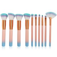 10pcs set Makeup Brushes Set Blush Loose Powder Eye shadow E...