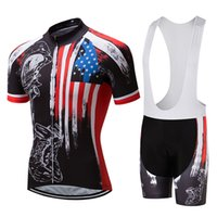 2017 USA Summer Quick Dry Cycling Jersey Pro Team Short Slee...