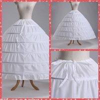 2015 frete grátis 6 Hoops vestido de baile Underskirt branco anáguas por atacado acessórios de noiva Crinolines Free Siza casamento / Prom / Quinceanera