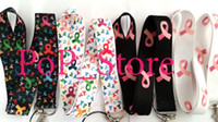 Atacado - Breast Cancer Awareness celular Phone Straps Encantos / pescoço Lanyard Chaveiro 18""
