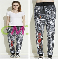 2015 new fashion men women' s joggers pants 3D print Jor...