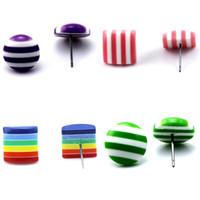 Beadsnice doces brinco para crianças acrílico brinco post colorido moda brincos jóias lote ID 32231