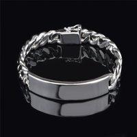 أزياء رجالية مجوهرات 11MM 925 الفضة الاسترليني سلسلة سوار فيجارو مطلي أعلى جودة الشحن المجاني