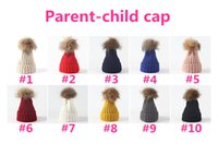 Free DHL Winter Parent- child Hats Fashion Warm Caps For Fami...