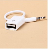 3. 5mm Male AUX Audio Plug Jack To USB 2. 0 Female Converter C...