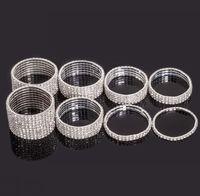 MIC Clear Spring Elastic Silver Plated 1- Row 2- Row 3- - Row 4-...