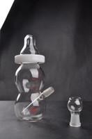 Yeni Varış biberon, mini cam bong Stokta cam su borusu kubbe ve tırnak ile 14mm ortak