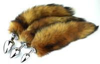 Long Fox Tail Anal Plug Metal Butt Bouchons Sex Toy 7.5cm 8.5cm 9.5cm Plug 3 Taille de la taille des jouets Cosplay Choice
