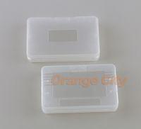 Cartucho de juego de plástico transparente Casos Caja de almacenamiento Protector Holder Cubierta de polvo de reemplazo Shell para GBA SP Game Boy GameBoy GBA