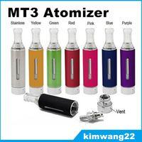 New Evod MT3 Atomizer Ego Clearomizer Atomizer Electronic Cigarettes Vaporizer Multi-Color Atomizer Fit 510 Threading Evod Ego Batteri