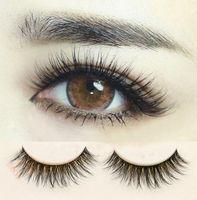 TÃO REAL! 3d cílios longos Eyelashes falsificados 6Pair / lote Criss Cross Eyelashes Eyelashes Extensão Natural Olho Lashes Pro Makeup Tool Cílios