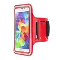 Caja del teléfono de la banda del brazo del brazo del brazo del brazo a prueba de agua con caja de correa ajustable para Samsung Galaxy S5 MOQ: 10pcs