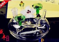 trasporto libero all'ingrosso Hookah - vaso di vetro Hookah [aiuole di loto, la consegna casuale di colore