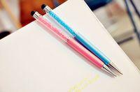 caneta Stylus e caneta esferográfica normal caneta de cristal 2 em 1 caneta stylus touch screen foTablet Smartphone