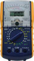 KT7310 휴대용 디지털 아날로그 듀얼 디스플레이 멀티 미터 9 온도 테스트 및 측면 슬라이딩 홀스터가있는 24 범위의 기능