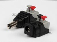 DC-Stecker + DC-Buchse Schnelldruckklemme 2,1 * 5,5 mm DC-Stromanschluss Adapter Steckverbinder für 3528/5050/5730 LED-Streifen